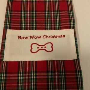 Tartan Plaid Bow WOW Dish Towel 🎄